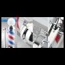 Barber Pole Poste De Barbeiro Aço Inoxidável Outdoor 110cm