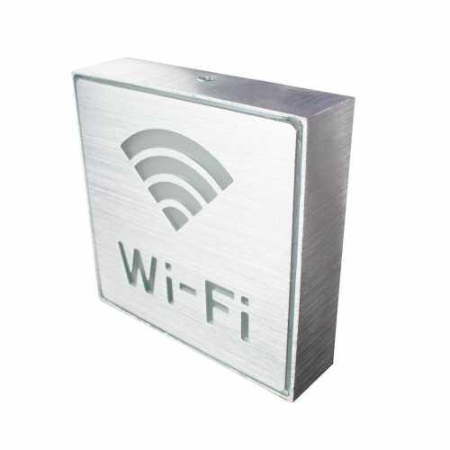 Placa de Led Metal Sinalização Área com Wifi Aqui