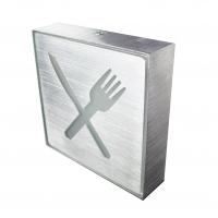 Placa de Led Metal Sinalização para Sala  de Alimentação e Refeitório