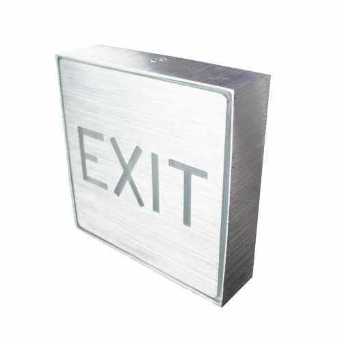 Placa de Led Metal Sinalização de Saída Exit