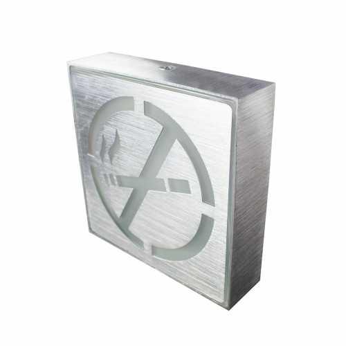 Placa de Led Metal Sinalização Proibido Fumar Aqui