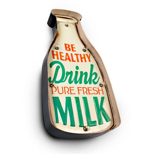 Luminária De Parede Vintage Para Decoração Lanchonete Drink Milk