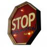 Luminária De Parede Vintage Placa de Led STOP WATCH para Decoração Retrô