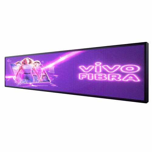 Painel De LED 295cm x 71cm  Full Color  Suporta Vídeos P10