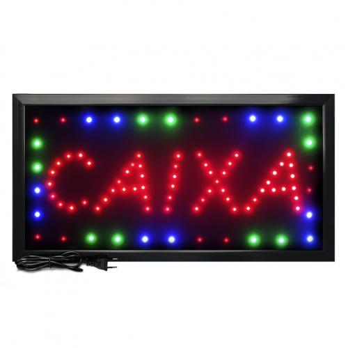 Letreiro De Led Pub Placa de Sinalização Escrito Caixa com Efeito Luminoso 48cm x 25cm