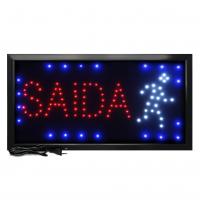 Letreiro De Led Pub Placa de Sinalização Escrito Saída com Efeito Luminoso 48cm x 25cm