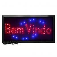 Letreiro De Led Pub Placa de Sinalização Escrito Bem Vindo com Efeito Luminoso 48cm x 25cm