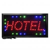 Letreiro De Led Pub Placa de Sinalização Escrito Hotel com Efeito Luminoso 48cm x 25cm