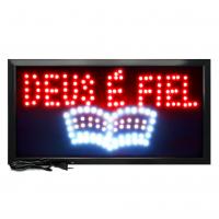 Letreiro De Led Pub Placa de Sinalização Escrito Deus é Fiel com Efeito Luminoso 48cm x 25cm
