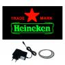 Placa De Led Letreiro Luminoso Efeito Neon 44cm x 24cm Heineken