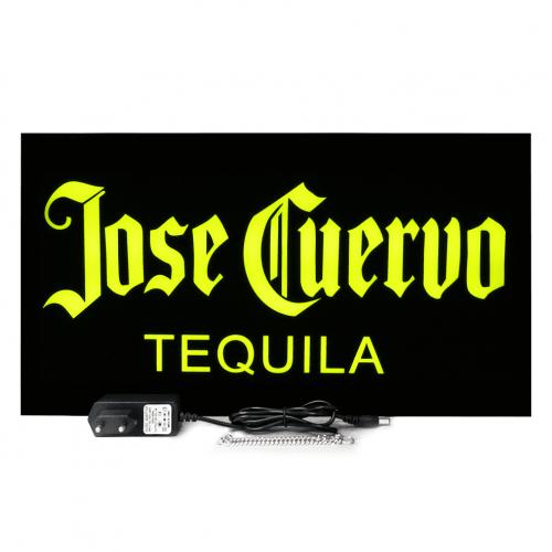 Placa Led Letreiro Luminoso Neon 44cm x 24cm Tequila Jose Cuervo