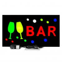 Placa De Led Bar Quadro Letreiro Luminoso 44cm x 24cm Sinalização Buteco
