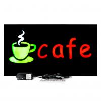 Placa De Led Cafe 44cm x 24cm Letreiro de Sinalização Luminoso Efeito Neon