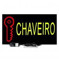 Placa De Led Chaveiro 44cm x 24cm Letreiro de Sinalização Luminoso Chave