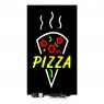 Letreiro Em Led 44cm x 24cm Placa Luminosa Escrito Pizza