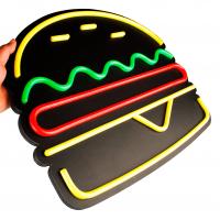 Placa Neon Flex 50cm x 40cm Hambúrguer Letreiro Luminoso