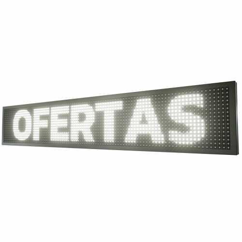 Painel De LED, Letreiro Digital 103cm x 23cm Alto Brilho