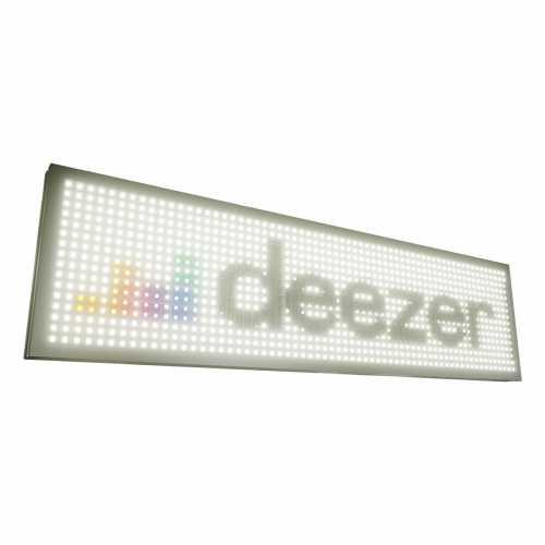 Painel De Led, Letreiro Digital 71cm X 23cm Rgb Colorido USB