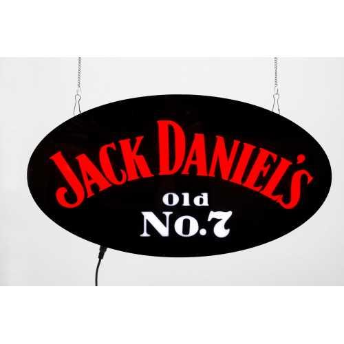 Placa LED Jack Daniel's  Letreiro de Sinalização Luminoso 43cm x 23cm Neon