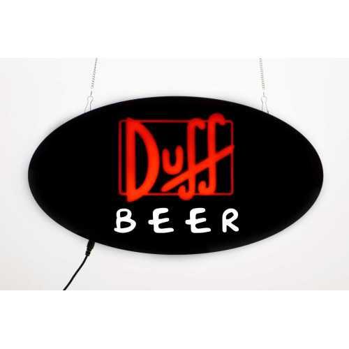 Placa LED Duff Beer Letreiro de Sinalização Luminoso 43cm x 23cm Neon  - Cerveja