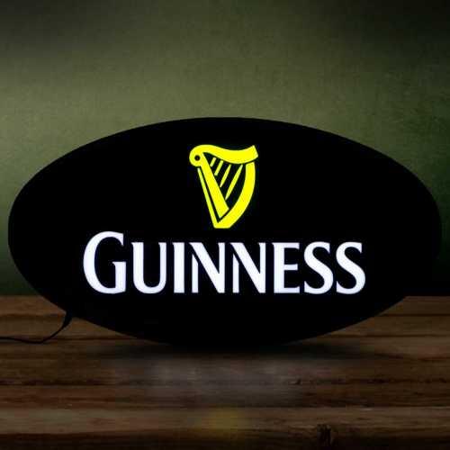 Placa LED Cerveja Guinness Letreiro de Sinalização Luminoso 43cm x 23cm Neon