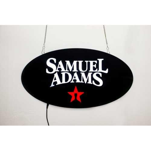 Placa LED Samuel Adams Letreiro de Sinalização Luminoso 43cm x 23cm Neon - Cerveja