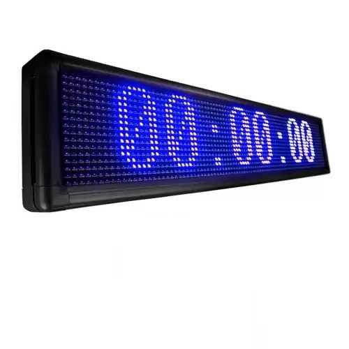 Cronômetro De Led Relógio Painel Letreiro Gigante 100x20cm