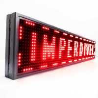 Painel Luminoso De Led Uma Cor 100cm X 20cm Uso Interno SMD Vermelho