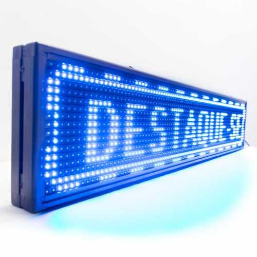 Painel Luminoso De Led Uma Cor 100cm X 20cm USB ou Wifi de Uso Interno SMD