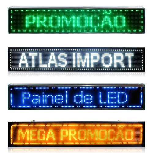 Painel De LED, Letreiro Digital 100cm x 20cm Alto Brilho