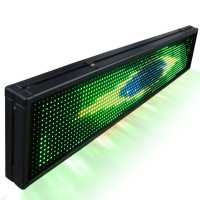 Painel De LED, Letreiro Digital luminoso RGB 100cm x 20cm - Dupla Face