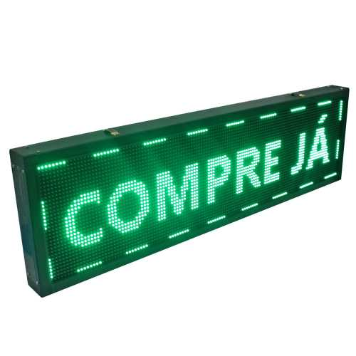 Painel De LED Dupla face, Letreiro Digital 135cm x 40cm Alto Brilho USB