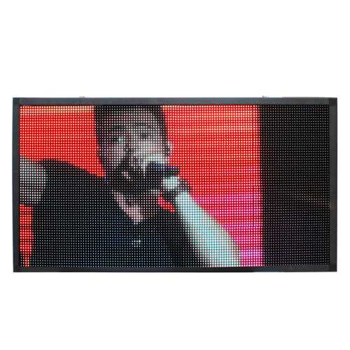 Painel De Led P10, Letreiro Luminoso RGB 2m X 72cm Full Color Suporta Vídeos
