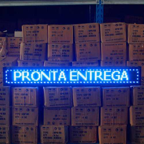 Painel De LED, Letreiro Digital 2m x 23cm Alto Brilho USB