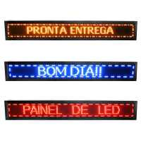 Painel De LED, Letreiro Digital 167cm x 23cm Alto Brilho