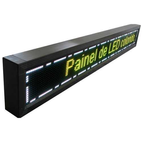 Painel De LED RGB, Letreiro Digital 2,64m x 23cm Colorido