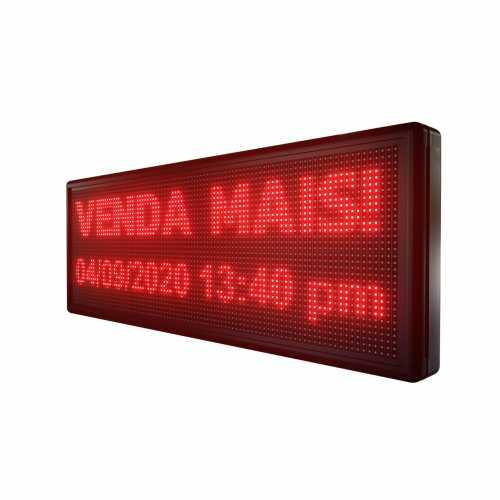 Painel De LED, Letreiro Digital 100cm x 40cm Alto Brilho USB