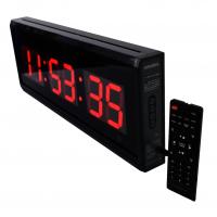 Relógio Cronômetro Temporizador Contagem com Temperatura e Alarme 48x18cm