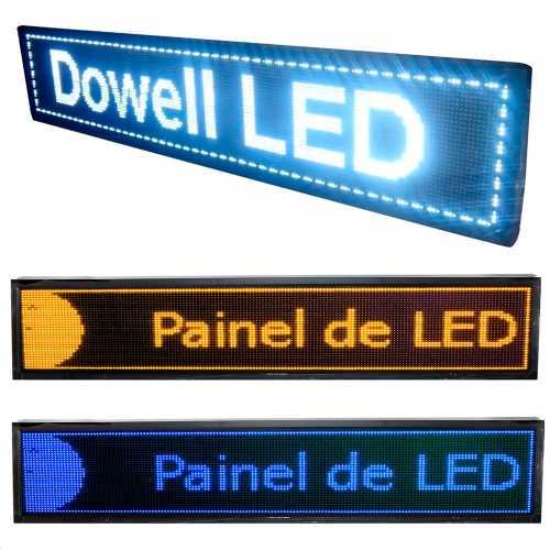 Painel De LED Dupla Face Letreiro Luminoso 2m x 40cm Alto Brilho