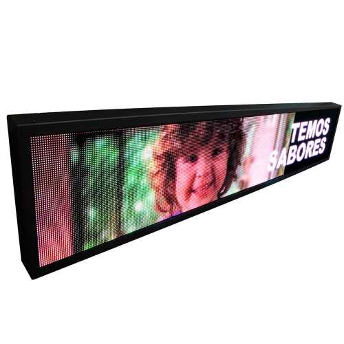 Painel De Led P5 De 167cm X 40cm Full Color Suporta Vídeos RGB com 20.480 LEDs