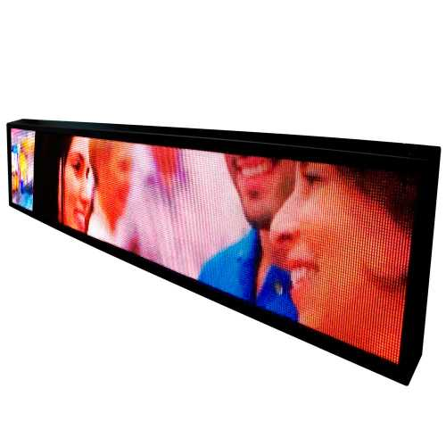 Painel De Led P5 De 2m X 40cm Full Color Suporta Vídeos RGB com 24.576 LEDs