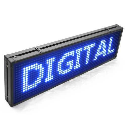 Painel De LED, Letreiro Digital 68cm x 20cm Alto Brilho USB