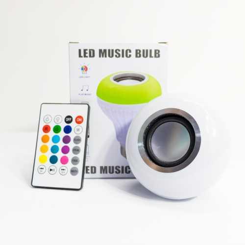 Lâmpada RGBW Caixa de Som Bluetooth Luz LED 12w com Controle
