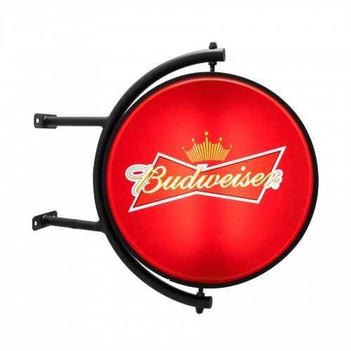 Orbite Luminoso Dupla Face Giratório Cerveja Budweiser Outdoor