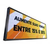 Painel De LED RGB, Letreiro Digital 167cm x 72cm Colorido Alto Brilho