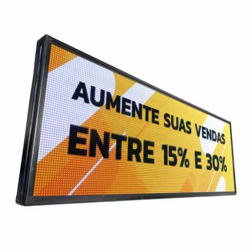 Painel De LED RGB, Letreiro Digital luminoso 200cm x 56cm Colorido