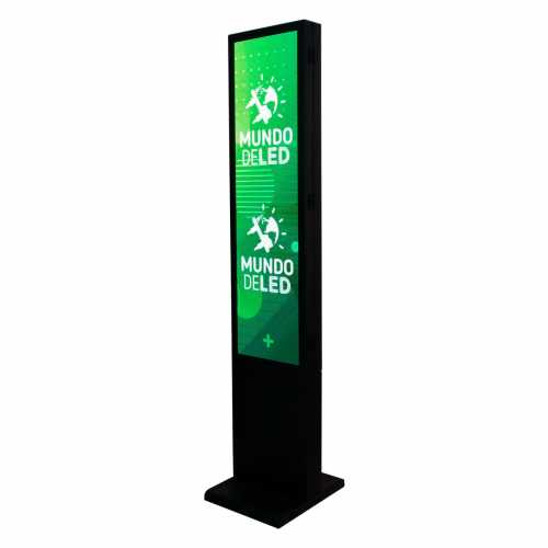 Painel De Led P5 Dupla Face 189cm X 39cm Totem Full Color
