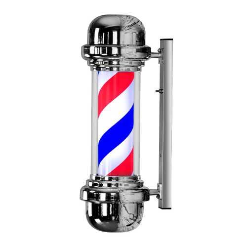 Barber Pole de Led, Poste De Barbearia 68cm