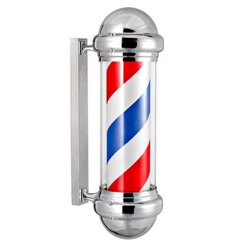Barber Pole Poste De Barbeiro 80cm Aço Inoxidável Outdoor