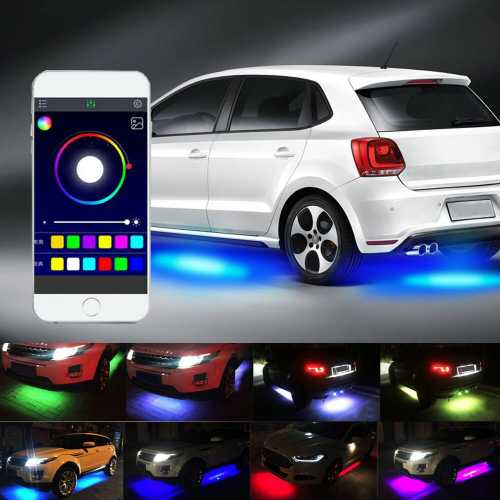 Fita Flexível LED Automotivo Externo RGB Universal
